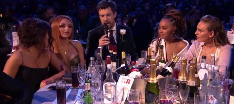 Jesy Nelson looked fuming after Jack Whitehall jokes about her Jamaican accent