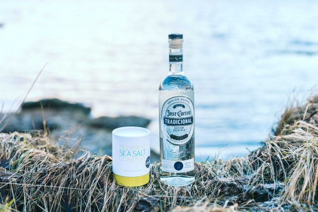 Isle of Skye Sea Salt and Jose Cuervo Tradicional Silver tequila