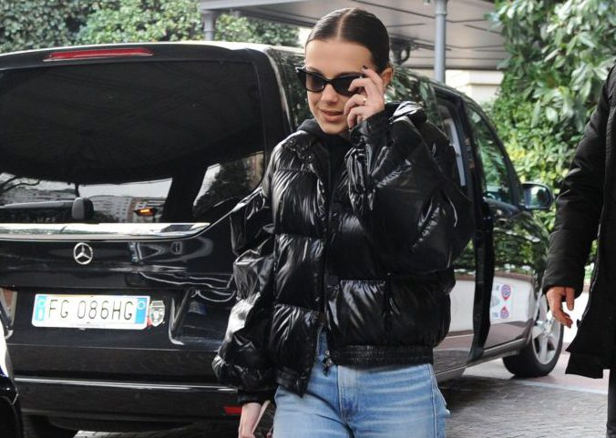 Stranger Things' Millie Bobby Brown looks bitchin' in Milan during Fashion Week