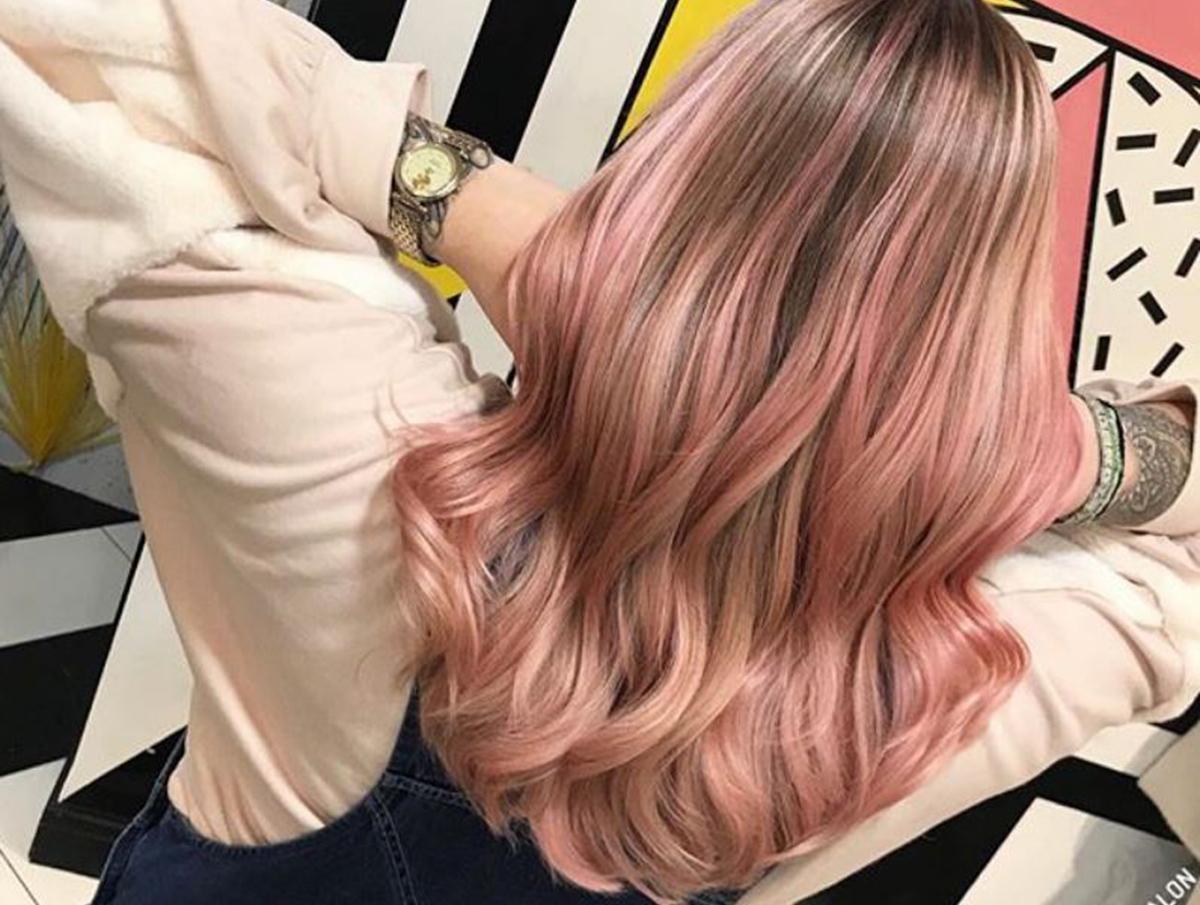 pink lemonade hair