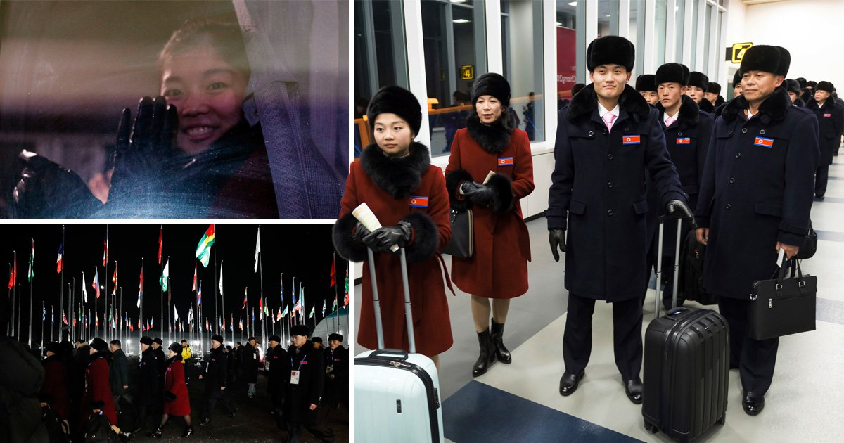 North Korean athletes arrive in the South to compete in the Winter Olympics