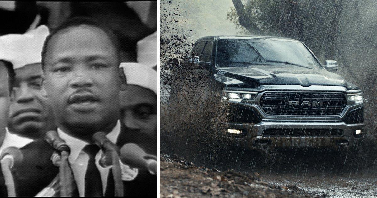 Martin Luther King Jr. speech used in Dodge Super Bowl advert causes major backlash