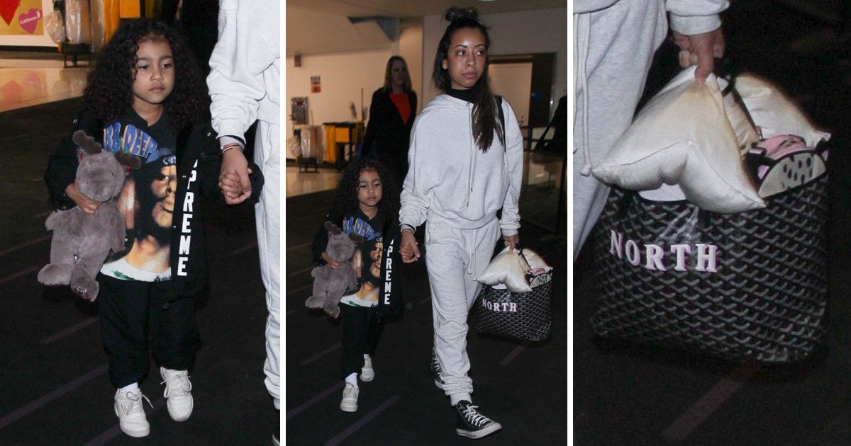 North West has a personalised bag just for her toys worth £1000
