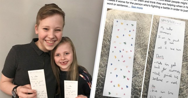 Eight-year-old creates bookmark guide on how to talk to
