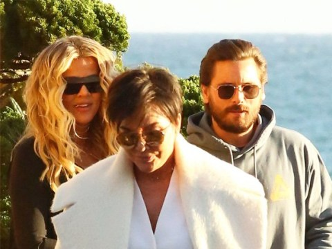 Khloe Kardashian's baby bump heads to lunch with Kris Jenner and Scott Disick