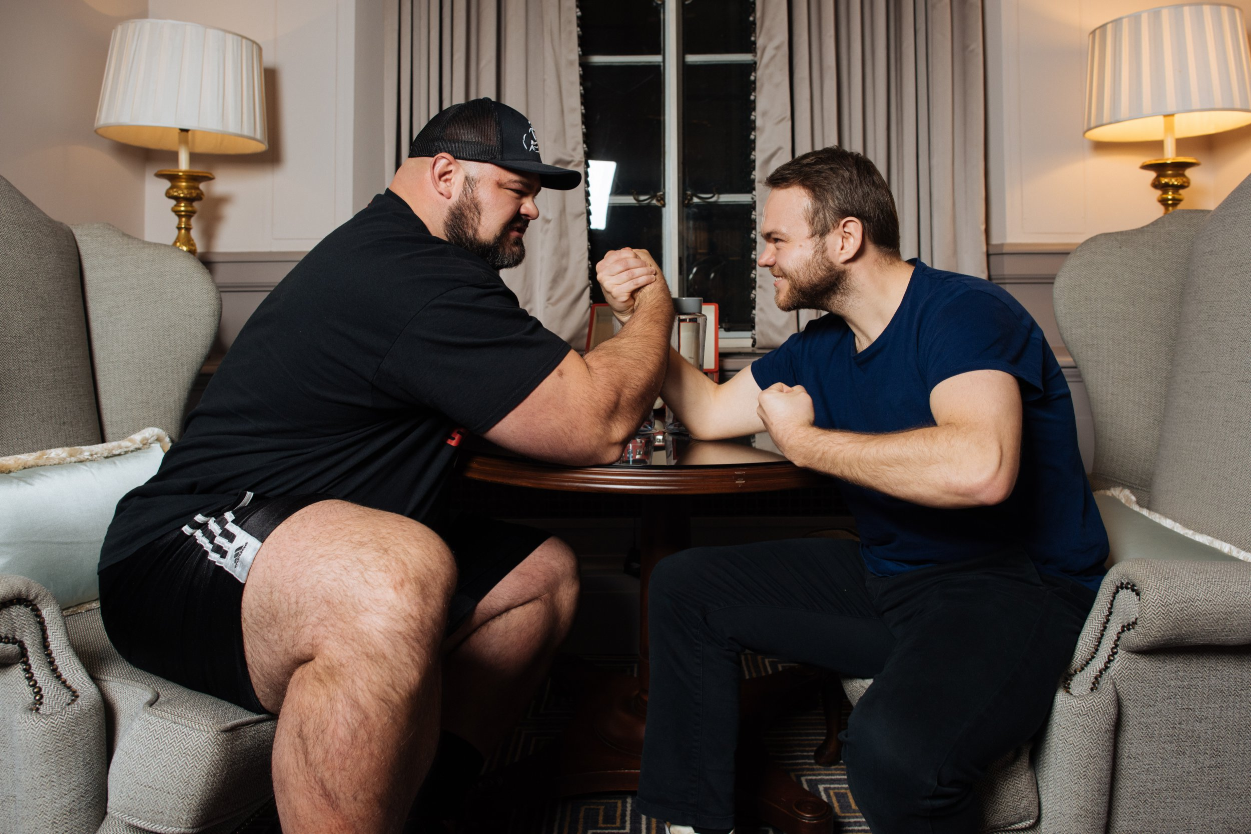 Meeting the strong man who eats 12,000 calories a day and wears size 17 shoes
