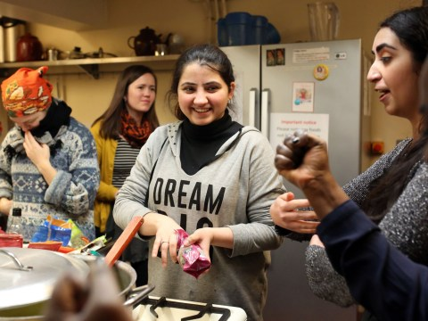 Cooking classes are giving refugees a purpose when they have nothing else