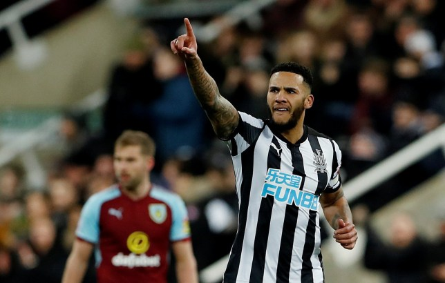 Jamaal Lascelles points to the fans