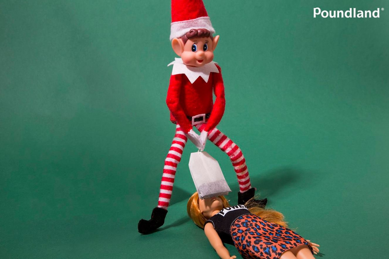 Poundland's ads showing elf 'teabagging Barbie' banned