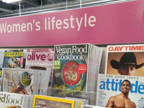 Sainsbury's store displayed gay men's magazines in women's section