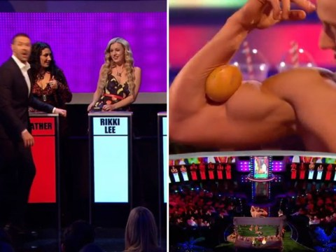 Fruity! Single bloke tries to get a date by squeezing a grapefruit with his bicep