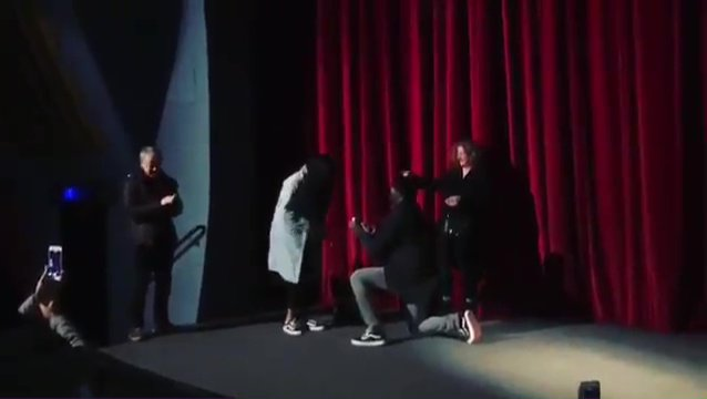 This is the sweet moment Idris Elba proposed to his girlfriend on stage at screening of his own movie