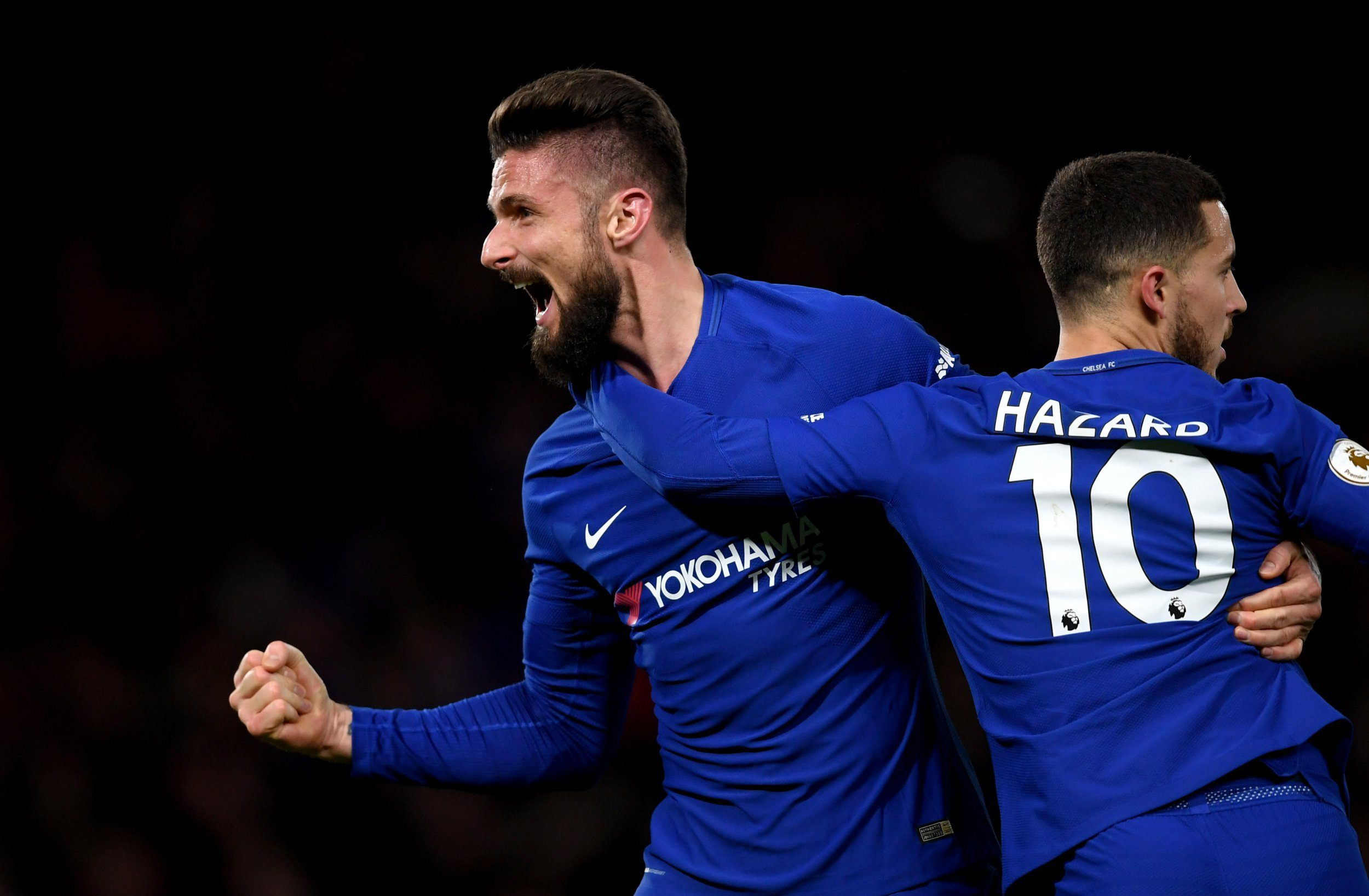 Eden Hazard heaps praise on Olivier Giroud after Chelsea beat West Brom