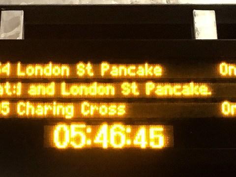 Someone at Southeastern Rail is a fan of Pancake Day