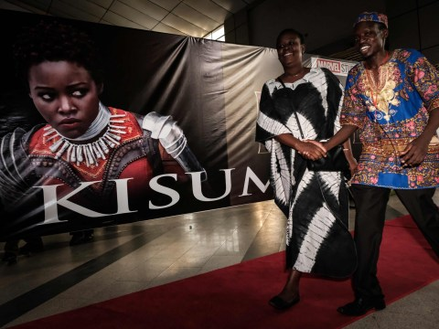 Lupita Nyong'o honoured in absence as Marvel's Black Panther makes its African premiere in Kenya