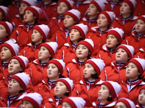 The darker side of North Korea's perfectly timed cheerleaders