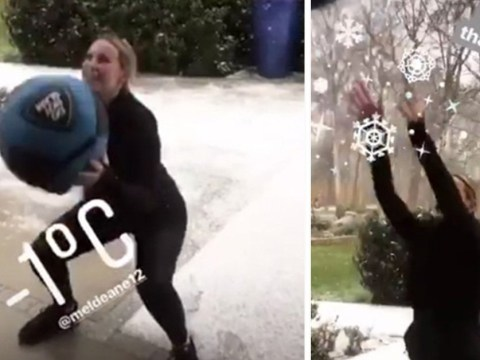 Rio Ferdinand's girlfriend Kate Wright is the only fitspo you need as she works out in -1°C snow