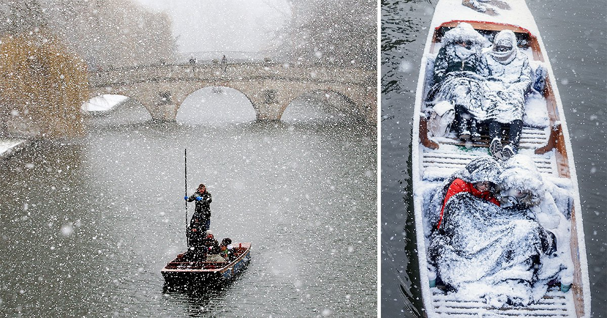 These punters couldn't give a damn about the snow