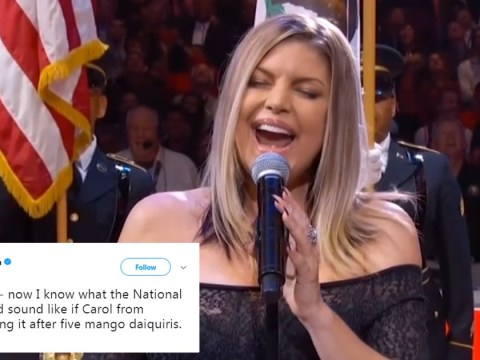 Fergie's national anthem made everyone feel so awkward at NBA All-Star game