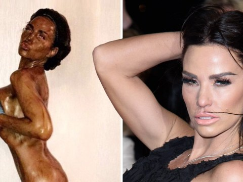 Naked Katie Price has fans in hysterics as she shows off epic fake tan fail