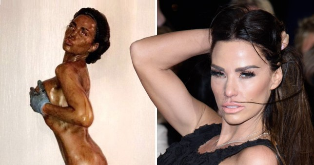Naked Katie Price Has Fans In Hysterics Showing Off Epic Fake Tan