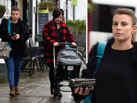 Coleen Rooney lets grandma push the baby as she enjoys day out after birth of fourth son Cass