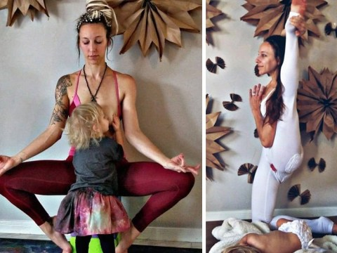 Meet the mum who freebleeds and breastfeeds while doing yoga