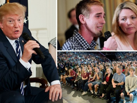 Trump confronted by emotional survivors of school shootings in powerful White House meeting