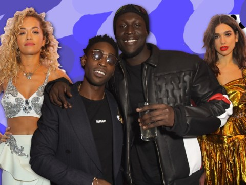 Stormzy and Dua Lipa celebrate their Brits wins at star-studded Warner afterparty