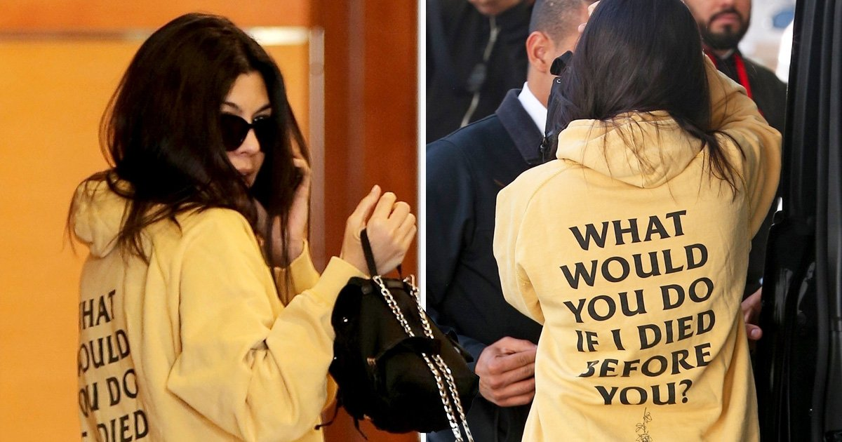 Kourtney Kardashian brings down the mood with depressing jumper on day out with sister Kylie Jenner