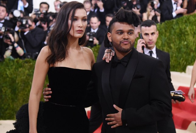 Mandatory Credit: Photo by Stephen Lovekin/REX/Shutterstock (5669128lm) Bella Hadid and The Weeknd Costume Institute Benefit Gala celebrating 'Manus x Machina: Fashion in an Age of Technology' exhibition, The Metropolitan Museum of Art, New York, America - 02 May 2016