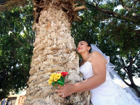 Single women get married to trees in ceremony to save them