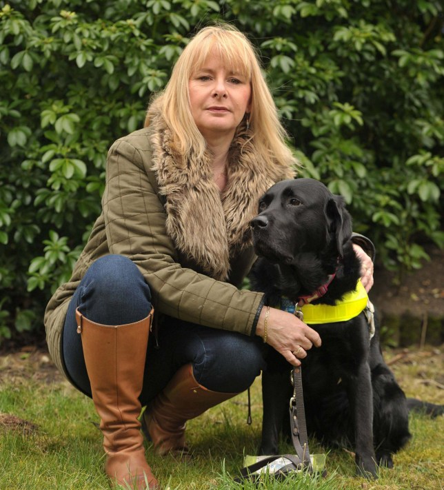 Carolyn with her guide dog Allie. Picture: SARAH LUCY BROWN