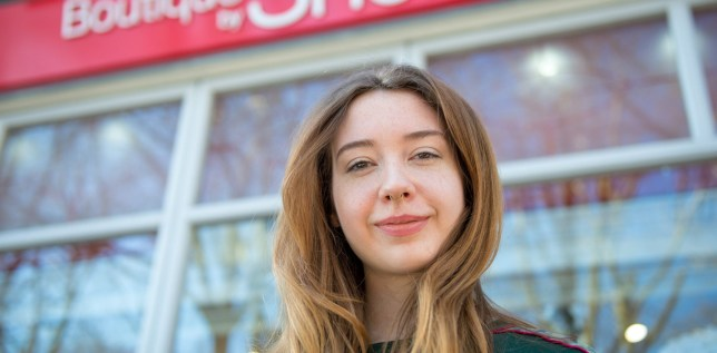 Assistant manager Sophie Condren. See National story NNPURSE; Hampstead charity shop worker found almost $10,000 in a purse - and tracked down its rightful owner. The grateful woman in her 70s, from Hampstead, had not realised the cash was in the bag as she thought it had been stolen. Sophie Condren, 23, manager of the Shelter boutique in Hampstead, said she was sifting through a collection of bags donated last Tuesday when she found the money tucked into a little evening bag.