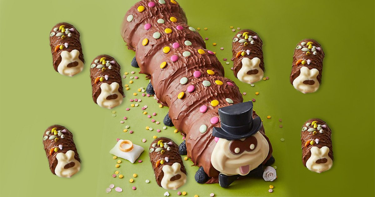 Colin the Caterpillar and his wife Connie have babies for you to eat