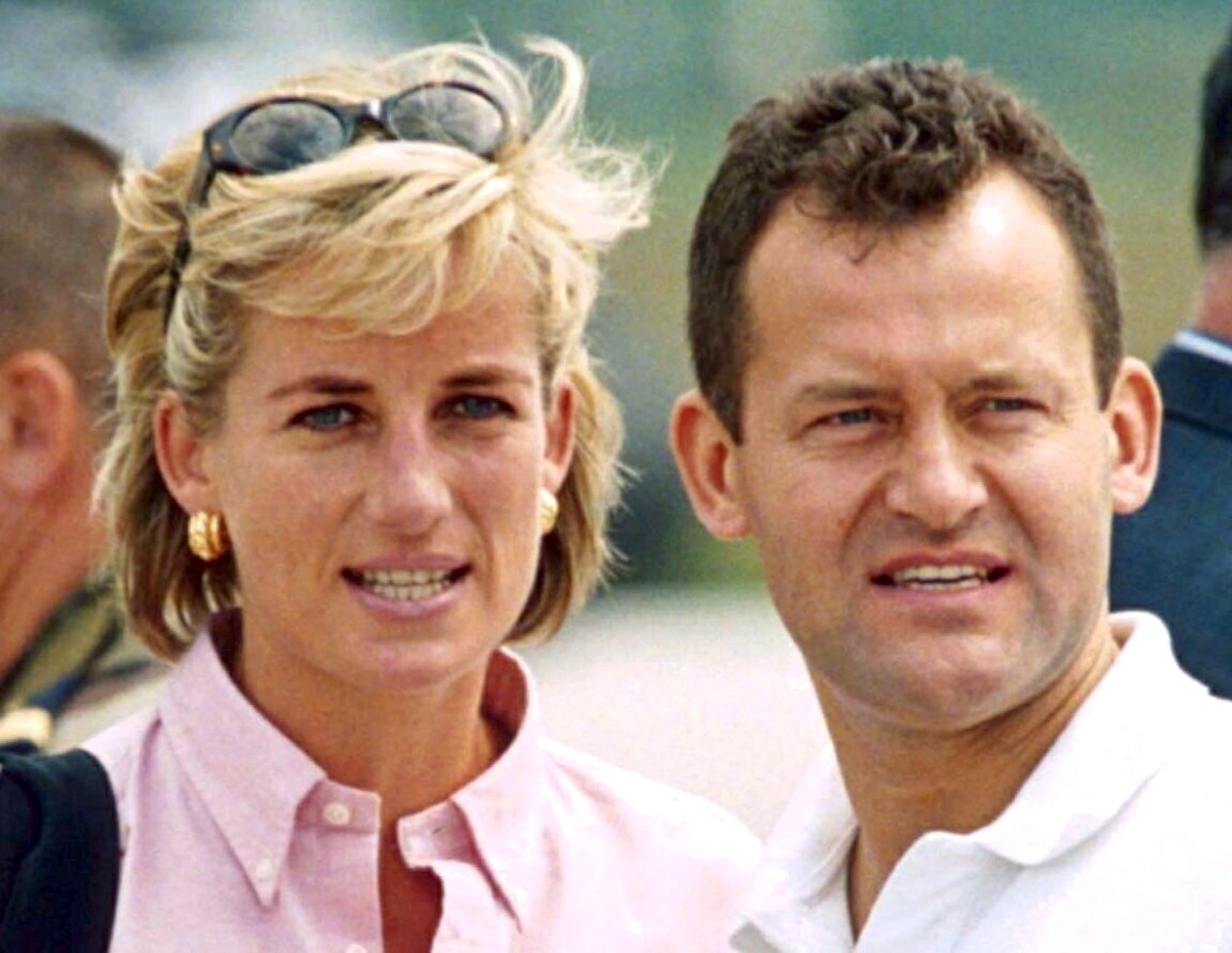 Mandatory Credit: Photo by Tim Rooke/REX/Shutterstock (277623es) PRINCESS DIANA WITH HER BUTLER PAUL BURRELL Princess Diana Promoting the Landmine Survivors Network, Bosnia - Aug 1997
