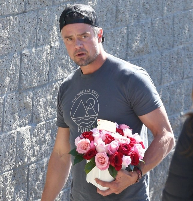 Josh Duhamel with flowers
