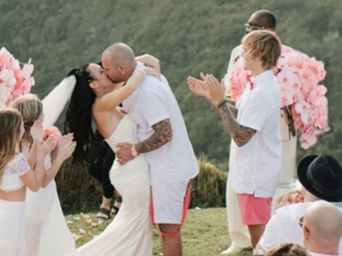Justin Bieber cheers as his father gets married in beautiful Jamaican ceremony