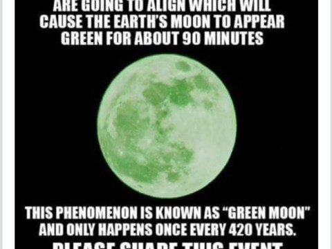 Some people actually think the moon is going to turn green in April