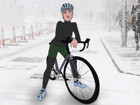 Tips for cycling in the snow