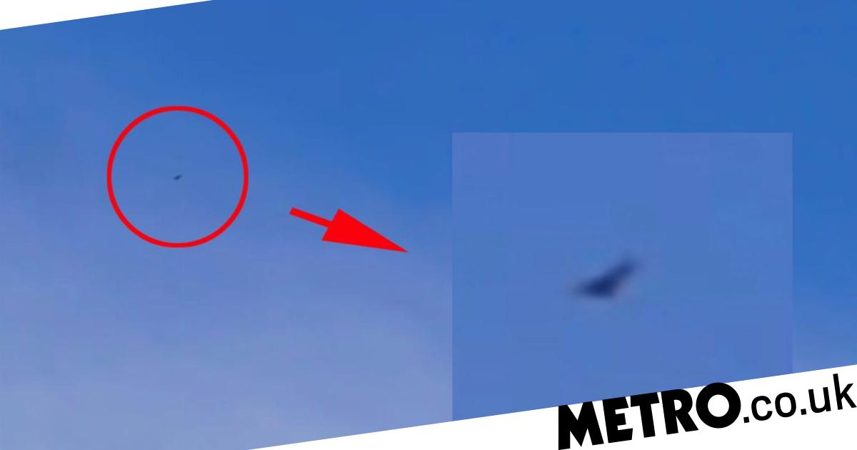 UFO hunters film triangular craft dogfighting with American