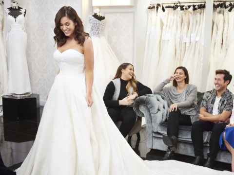 Vicky Pattison looks glorious as she tries on £6,900 wedding dress despite postponing big day