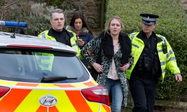 Rebecca is arrested in Emmerdale