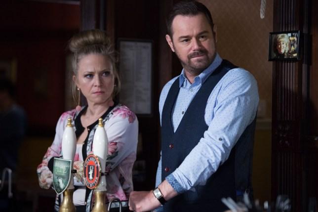 Linda and Mick face Aidan in EastEnders