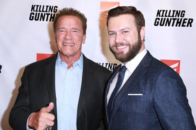 Taran Killam and Arnold Schwarzenegger