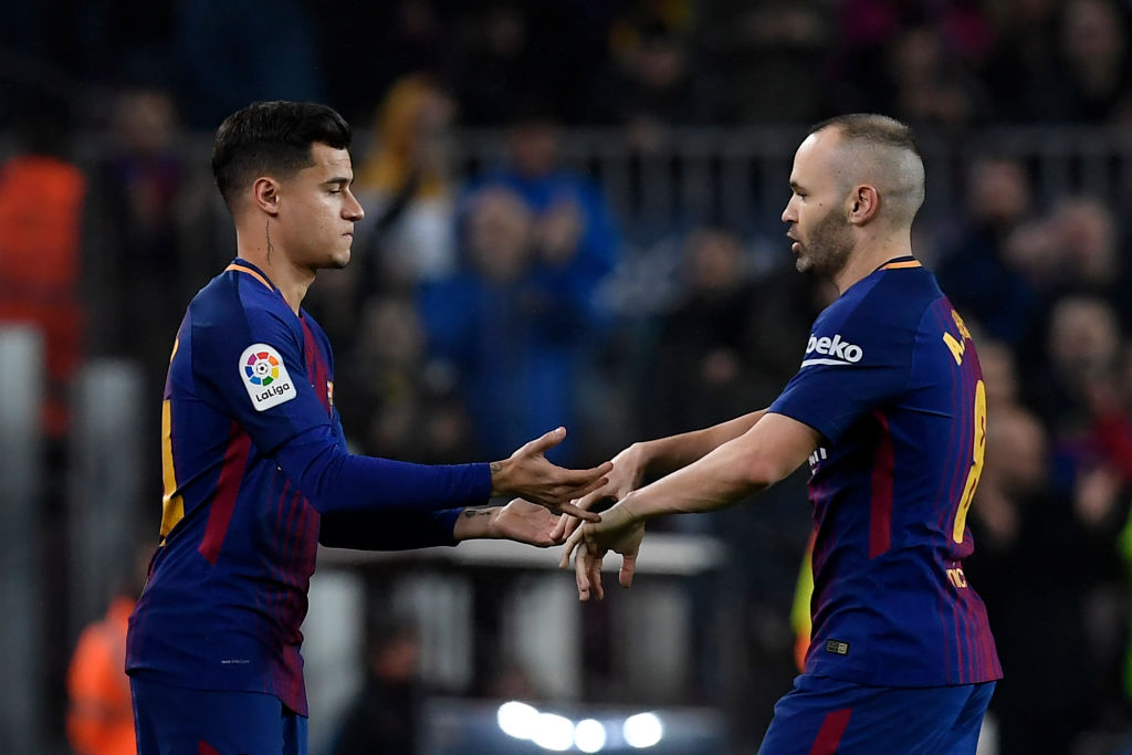 Barcelona want Andres Iniesta to stay and help mentor former Liverpool star Philippe Coutinho