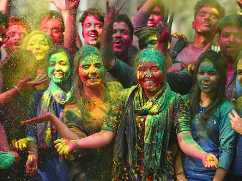 Holi videos and pictures of celebrations around the globe