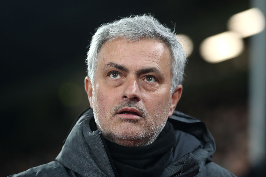 LONDON, ENGLAND - MARCH 05: Jose Mourinho, Manager of Manchester United during the Premier League match between Crystal Palace and Manchester United at Selhurst Park on March 5, 2018 in London, England. (Photo by Catherine Ivill/Getty Images)