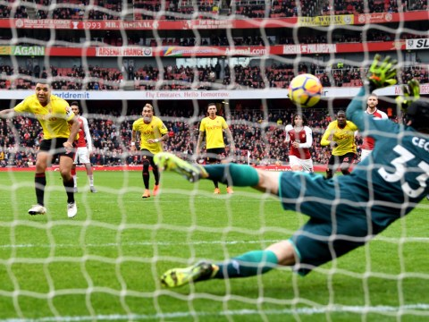 Cojones? Arsenal fans rip into Troy Deeney as Petr Cech saves first penalty since 2011