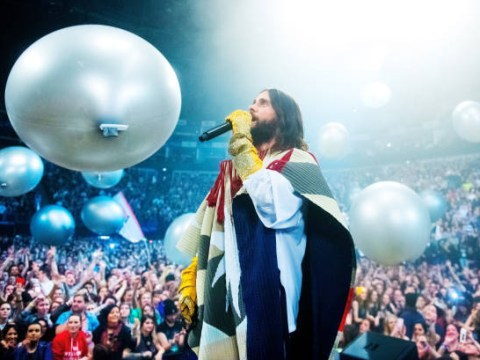 Thirty Seconds to Mars at the 02 review: Giant balloons, a technicolour poncho and Chester Bennington love